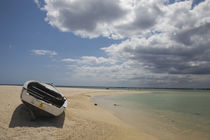 Boat on the beach, Flic En Flac, Mauritius by Panoramic Images