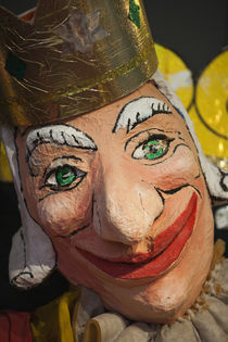 Close-up of a clown mask, Museo Del Carnaval, Montevideo, Uruguay von Panoramic Images