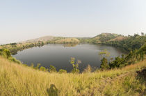 Lake in a forest, Queen Elizabeth National Park, Uganda von Panoramic Images