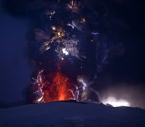 Erupting volcano, Eyjafjallajokull, Iceland by Panoramic Images
