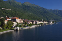 High angle view of a town at the waterfront by Panoramic Images