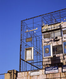 Scaffoldings on a building, Syria von Panoramic Images