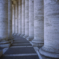 Columns of a building, St. Peter's Square, Rome, Italy by Panoramic Images