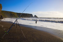 Sea Angling at Ballydowane Beach, Copper Coast, County Waterford, Ireland by Panoramic Images