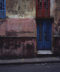 Closed door of a house, Salvador, Brazil by Panoramic Images