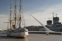 Training ship with a footbridge by Panoramic Images