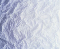 Close up of crinkled white fabric von Panoramic Images