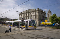 LUAS Tram in front of Heuston Station, Dublin, Ireland by Panoramic Images