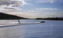 Water Ski-ing on the River Suir, Fiddown, County Kilkenny, Ireland von Panoramic Images