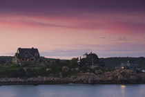 Bass rocks houses, Gloucester, Cape Ann, Massachusetts, USA by Panoramic Images