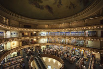Interiors of a bookstore, El Ateneo, Avenida Santa Fe, Buenos Aires, Argentina by Panoramic Images
