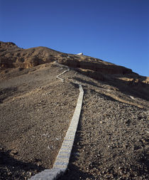 Stepped walkway passing through hillside, Valley Of The Kings, Luxor, Egypt by Panoramic Images