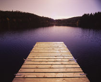 Pier on a lake, Northern Black Forest Region, Baden-Wurttemberg, Germany von Panoramic Images