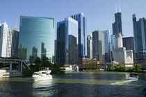 Motorboats in a river, Chicago River, Chicago, Cook County, Illinois, USA 2010 by Panoramic Images