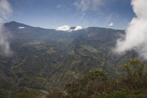 Mountain range viewed from La Fenetre, Cirque de Cilaos, Reunion Island by Panoramic Images