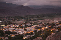 High angle view of a town at dusk, Tilcara, Quebrada De Humahuaca, Argentina von Panoramic Images