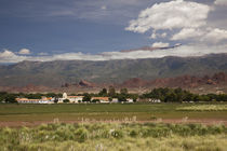 Town on a hill, Molinos, Calchaqui Valleys, Salta Province, Argentina by Panoramic Images