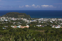 Aerial view of a town, St. Joseph, Reunion Island by Panoramic Images