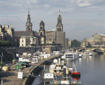 Tourboats in a river, Dresden, Germany by Panoramic Images