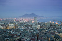 High angle view of a city, Mt Vesuvius, Naples, Campania, Italy by Panoramic Images