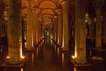 Interiors of a basilica Cistern, Istanbul, Turkey von Panoramic Images