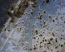 Bullet holes on the wall of a mosque, Syria by Panoramic Images