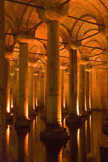 Interiors of a basilica Cistern, Istanbul, Turkey by Panoramic Images