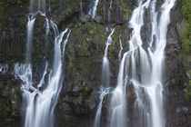 Water falling through rocks, Cascade de la Grand Ravine, Reunion Island by Panoramic Images