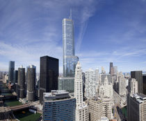 Buildings in a city, Chicago, Cook County, Illinois, USA 2010 by Panoramic Images