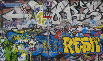 Grafitti on the U2 Wall, Windmill Lane, Dublin, Ireland von Panoramic Images