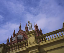 Low angle view of a statue on the top of a building, Buenos Aires, Argentina by Panoramic Images