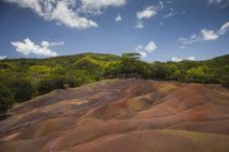 Rock formations on a landscape, Chamarel Coloured Earths, Chamarel, Mauritius by Panoramic Images