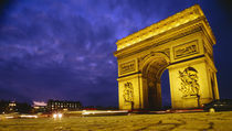 Low angle view of a triumphal arch, Arc De Triomphe, Paris, France by Panoramic Images
