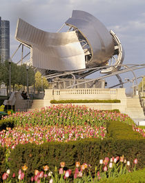 USA, Illinois, Chicago, Millennium Park, Pritzker Pavilion, Outdoor amphitheater von Panoramic Images