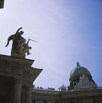 Low angle view of statues on a palace, The Hofburg Complex, Vienna, Austria by Panoramic Images