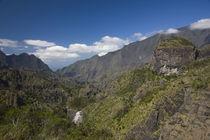 Clouds over a mountain range, Ilet a Cordes, Cirque de Cilaos, Reunion Island by Panoramic Images