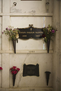 Memorial plaque of Rudolf Valentino in Hollywood Forever Cemetery von Panoramic Images