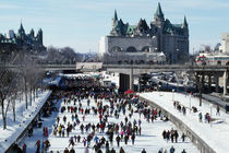Skaters on Rideau Canal, Ottawa, Canada. by Panoramic Images