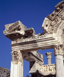 Ruins of a temple, Temple of Hadrian, Ephesus, Turkey by Panoramic Images