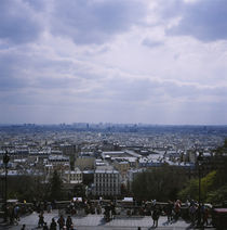 High angle view of a city, Montmartre, Paris, France von Panoramic Images