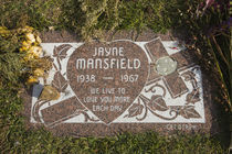 Tombstone of Jayne Mansfield in Hollywood Forever Cemetery by Panoramic Images