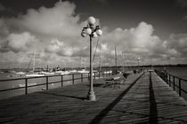 Lamppost on the jetty, Colonia Del Sacramento, Uruguay by Panoramic Images