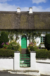 Traditional Cottage Doorway, Stradbally, County Waterford, Ireland by Panoramic Images