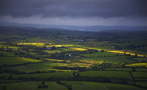 Sunburst over Fields, From Croughaun Hill, County Waterford, Ireland von Panoramic Images