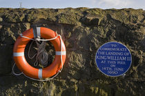 Plaque commemorating the landing of King William III at the Harbour by Panoramic Images
