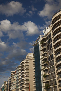 Low angle view of apartments, Rambla Mahatma Gandhi, Montevideo, Uruguay by Panoramic Images