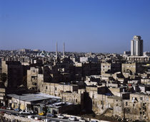 High angle view of a city, Damascus, Syria von Panoramic Images