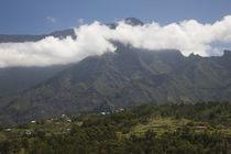 Town in a mountain range, Cilaos, Cirque de Cilaos, Reunion Island by Panoramic Images
