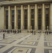 Tourist in front of a building, Palais De Chaillot, Paris, France by Panoramic Images