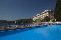 Swimming pool in a hotel by Panoramic Images